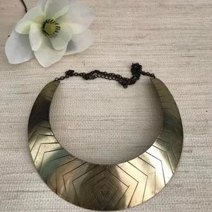 Wide Gold Choker/ Necklace